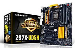 Gigabyte GA-Z97X-UD5H LGA 1150 Z97 with Killer E2200 and Intel Gaming Networking SATA Express M.2 SSD ATX Motherboard