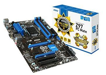 MSI ATX DDR3 2400 LGA 1150 Motherboards Z97 PC MATE